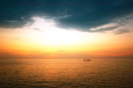 Sunset on the rocks. Siam bay. Province Trat. Koh Chang island. Kingdom Thailand Stock Photo - 4652807