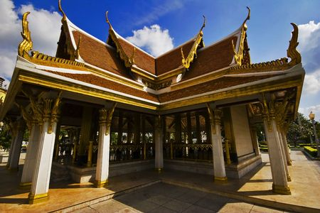 Buddhist temple in Bangkok. Kingdom Thailand. photo