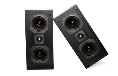 Sound Speaker on white background photo