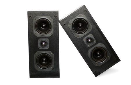 Sound Speaker on white background photo