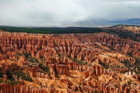 Panorama of Bryce canyon. Utah. USA. photo