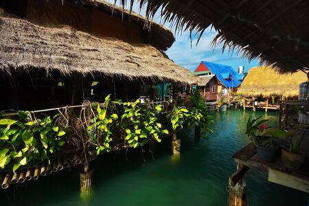 bao: Pier near the Bang Bao village. Koh Chang island, Thailand Stock Photo