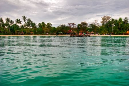 Near the tropical beach. Siam bay. Province Trat. Koh Mak island. Kingdom Thailand photo