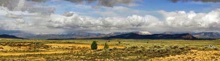 Stitched Panorama of landscape of Utah state. USA. photo