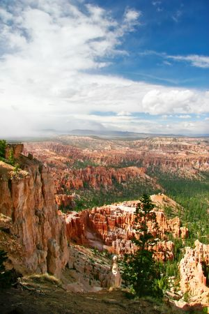 Slopes of Bryce canyon. Utah state. USA Stock Photo - 4761156