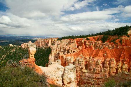 Slopes of Bryce canyon. Utah state. USA Stock Photo - 4761088