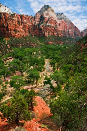 View on the valley in Zion Canyon. Utah. USA photo