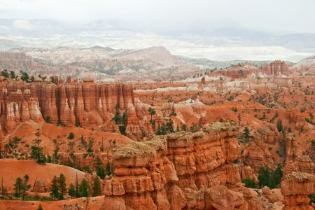 View from viewpoint of Bryce canyon photo