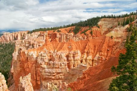View from viewpoint of Bryce canyon Stock Photo - 5394704