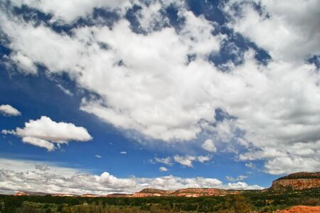 american field service: Landscape near Coral Pink Sand Dune National Park. Utah.  Stock Photo