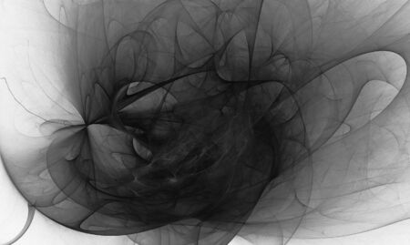 beatiful: Beatiful black&white fractal Stock Photo