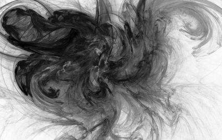 Beatiful black&white fractal Stock Photo - 5589015
