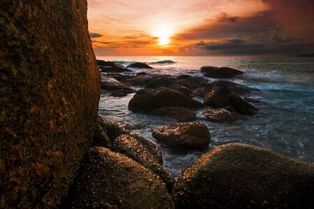 Tropical sunset in Thailand Stock Photo - 5618477