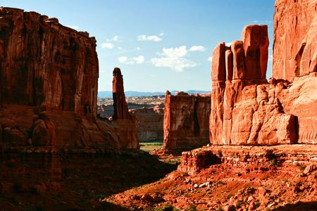 Landscapes of Utah. It is photographed in Arches canyon. Utah. USA. photo