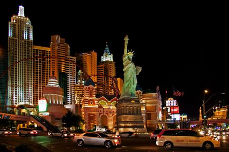 LAS VEGAS - MAY 1: Traffic moves past the New York, New York Hotel & Casino on May 1, 2007 in Las Vegas. The hotel opened on January 3, 1997 as a joint venture of MGM and Primadonna Resorts. Editorial