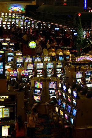 LAS VEGAS - MAY 1:Game proceeds both at night and day without interruption in game halls of New York Hotel & Casino on May 1, 2007. Stock Photo - 6887013