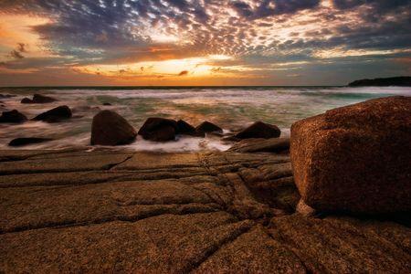 Beatiful sunset in the sea Stock Photo - 6502671