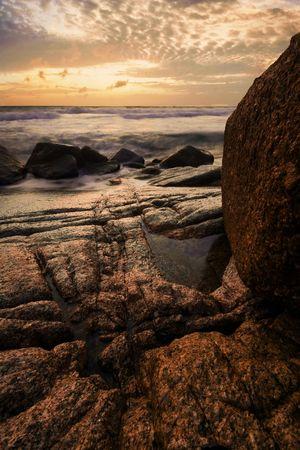 Beatiful sunset in the sea Stock Photo - 6502674