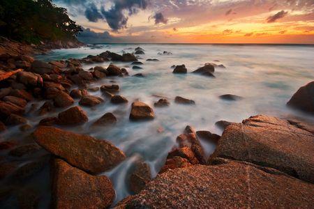 Beatiful sunset in the sea Stock Photo - 6502666