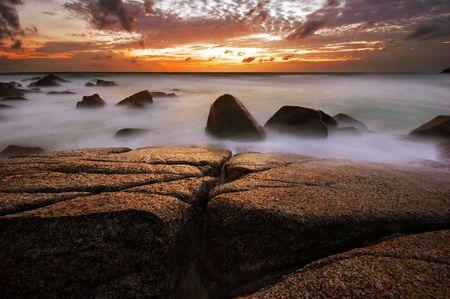 Beatiful sunset in the sea Stock Photo - 6502668