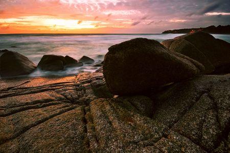Beatiful sunset in the sea Stock Photo - 6502681