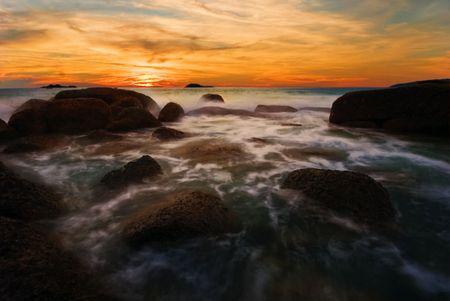 Beatiful sunset in the sea Stock Photo - 6502665