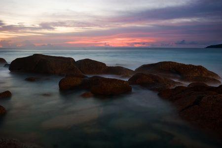 Beatiful sunset in the sea Stock Photo - 6502620