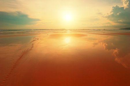 beatiful: Beatiful sunset in the sea