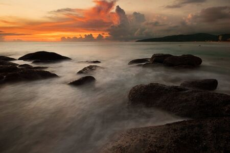 Beatiful sunset in the seab Stock Photo - 6502618