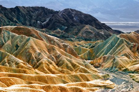Relief of the rocks in Death Valley. California. USA Stock Photo