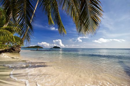 On the tropical beach. Siam bay. Province Trat. Koh Mak island. Kingdom Thailand Stock Photo - 6851206