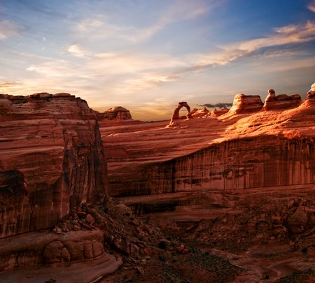 Landscapes of Utah. It is photographed in Arches canyon. Utah. USA.  Stock Photo - 7466614