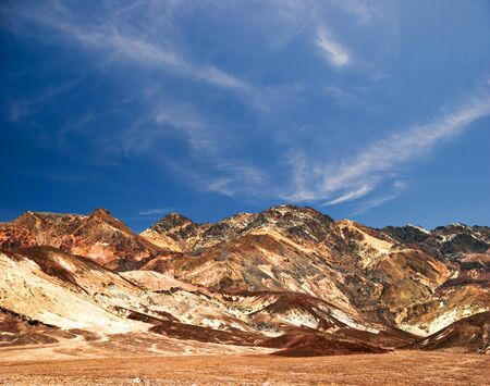 Relief of the rocks in Death Valley. California. USA  photo