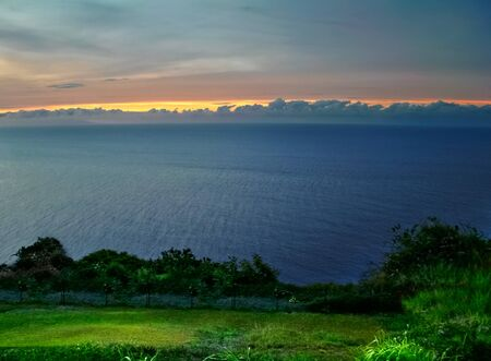 View on the ocean on Big island in evening time. Hawaii. USA  photo