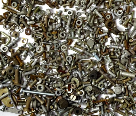 Collection of bolts and nuts of different sizes Stock Photo - 7619821