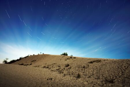 Star Trails in the night  photo