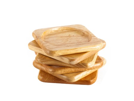 pile of wooden coasters for glass Stock Photo - 7970614