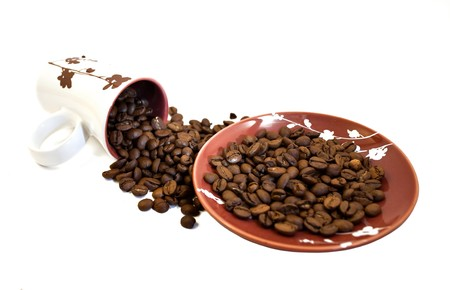 Cup and coffee beans  photo