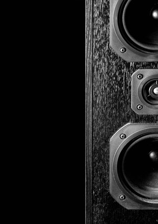 two party system: Sound Speaker on black  Stock Photo