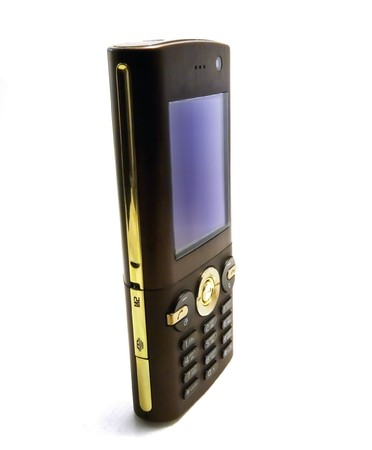 Mobile phone on white background photo