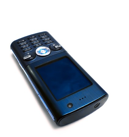 Mobile phone on white background  Stock Photo - 8014903