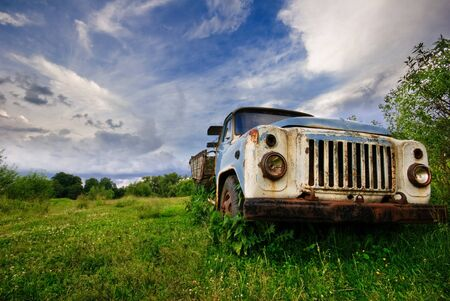 Old lorry in the field Stock Photo - 8020628