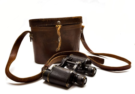 Japanese military binoculars since the First World War on a white background. Stock Photo - 8683567