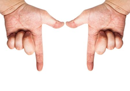 Mans hands and abstract gestures  photo