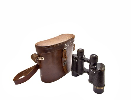 Japanese military binoculars since the First World War on a white background.  photo