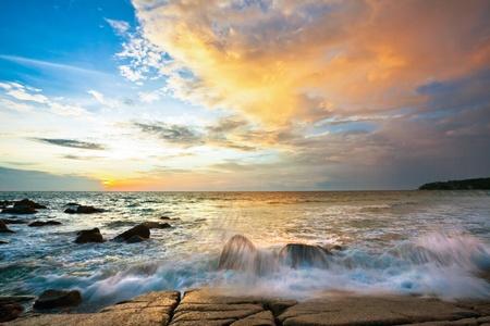 Beautiful sunset in the sea. Thailand Stock Photo - 8853540