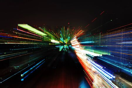 abstract moving lights