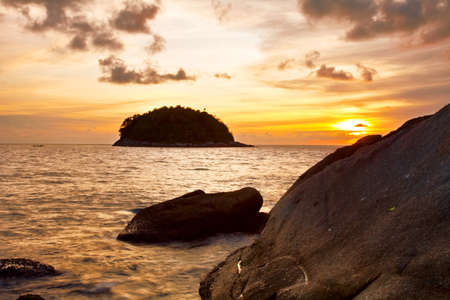 Tropical sunset at the beach. Thailand Stock Photo - 8853691