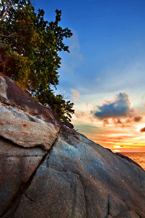 Tropical sunset at the beach. Thailand Stock Photo - 8853742