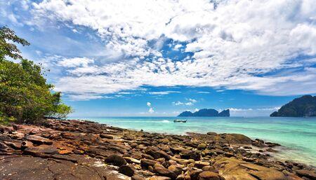 Beautiful tropical beach. Thailand photo